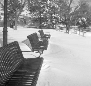 Seats in the snow