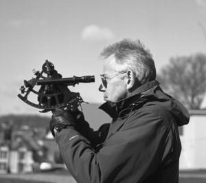 Bill wields the sextant