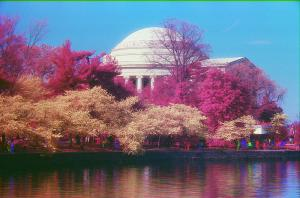 Jefferson Memorial,green-red-infrared