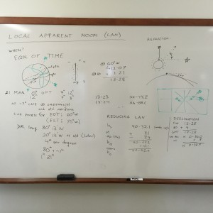 Whiteboard with theory